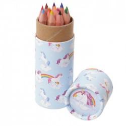 Tube de Crayons de Couleur - Licorne