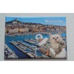 """Magnet  """"Un bonjour de Marseille"""""""