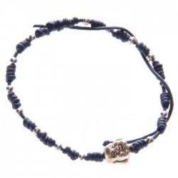 Bracelet Bleu Tête de Bouddha Chinois