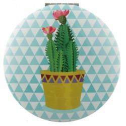 Miroir Rond Cactus - Pot Jaune