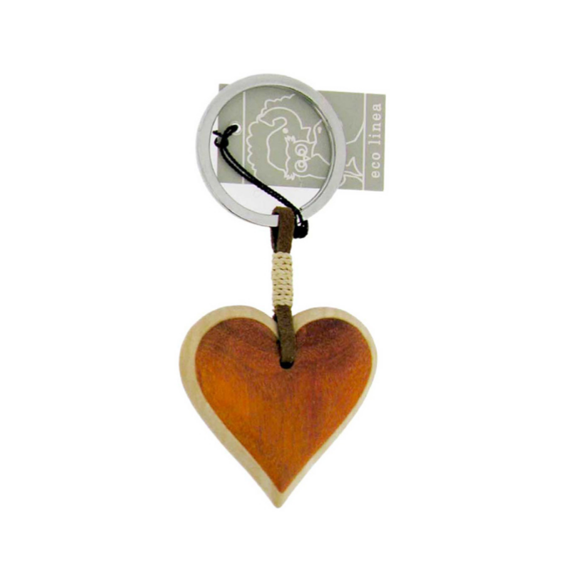 Porte cl s coeur en bois orange marcoeagle for Porte cles en bois