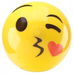 "Balle Rebondissante Lumineuse plastique Smiley ""Bisous"""