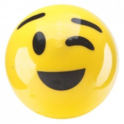 "Balle Rebondissante Lumineuse plastique Smiley ""Clin d'Oeil"""