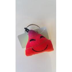 Porte-clés Moelleux Smiley Emoti CaCa Zen avec Son