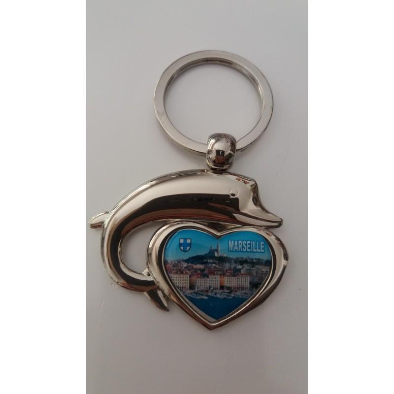 Porte cl s coeur marseille entour d 39 un dauphin marcoeagle for Porte 4 marseille