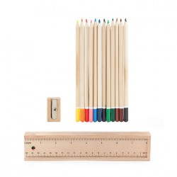Plumier 12 Crayons de Couleurs KIKKERLAND