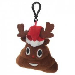 Porte-clés Moelleux Emoti Caca Noël Bonnet avec Son