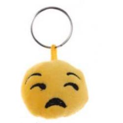 Porte-clés Moelleux Smiley Emoti Désespéré avec Son
