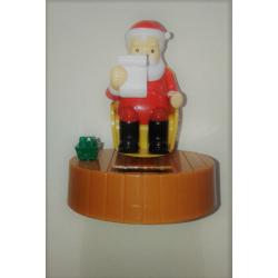 Figurine Solaire Père Noël Fauteuil