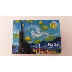 """Magnet Résine """"La Nuit Etoilée"""" Van Gogh 04"""