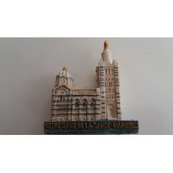 Magnet Résine Relief Bonne Mère Notre Dame de La Garde - Marseille