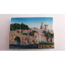 Magnet Résine Pont & Palais des Papes Zoom - Avignon