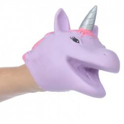 Marionnette à Mains Tête de Licorne Violette