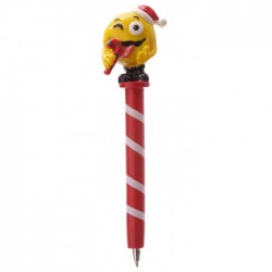 Stylo Smiley Emoti Noël Sucre d'Orge