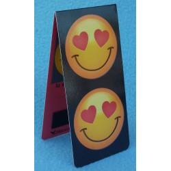 Marque Page Magnétique Smiley  Emoti Coeurs