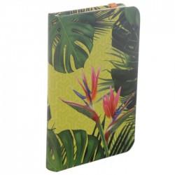 Carnet de Note Elastique Plante Tropicale