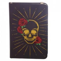 Carnet de Note Elastique Tête de Mort Mexicaine