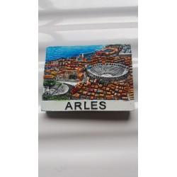 Magnet Résine Arles Arènes Aérien