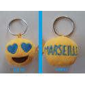 """Porte-clés Moelleux """"Marseille"""" Smiley Emoti Amour avec Son"""