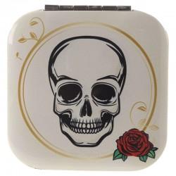 Miroir Blanc Crâne + Rose