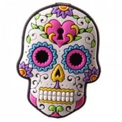 """Magnet  """"Jour des Morts Mexicains"""" Blanc"""