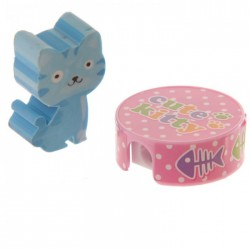 Gomme Chat Bleu + Taille Crayon