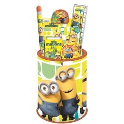 """Pot à Crayons Garni """"Les Minions"""""""