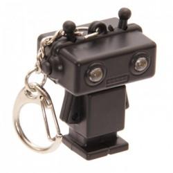 Porte-Clefs Lumineux et Sonore Robot Noir