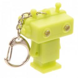 Porte-Clés Lumineux et Sonore Robot Vert