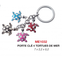 Porte-Clés 4 Tortue de Mer