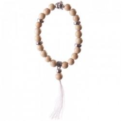 Bracelet Mala Bouddha Beige