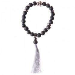 Bracelet Mala Bouddha Gris