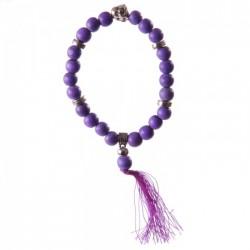 Bracelet Mala Bouddha Violet