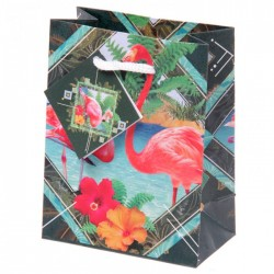 Sac Cadeau Flamants Roses 11x6x14 cm
