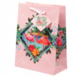 Sac Cadeau Flamants Roses 17x9x23 cm
