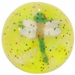 Balle Rebondissante 3D Libellule 2 (Jaune)
