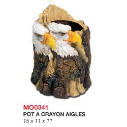Pot à Crayon 2 Aigles