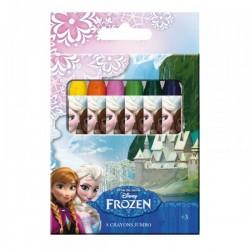 """Set de 8 Crayons de couleur Cire """"La Reine des Neiges"""""""