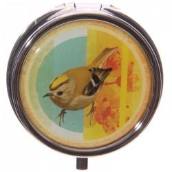 Boîte à cachets Oiseaux (Jaune)