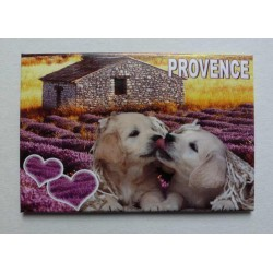 Magnet Provence Chiens Bisous