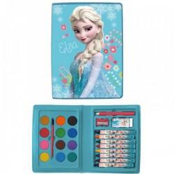 """Malette de peinture Elsa 24 pièces  """"Reine des Neiges"""""""
