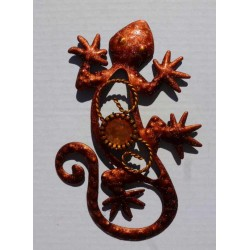 Magnet Lézard en Métal Orange 03