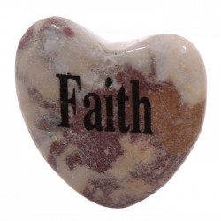 Magnet Coeur en Pierre FOI - FAITH