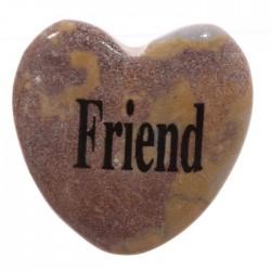 Magnet Coeur en Pierre AMI - FRIEND