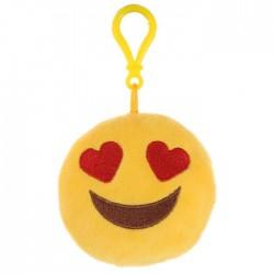 Porte clés Moelleux Emoticone Coeurs avec Son