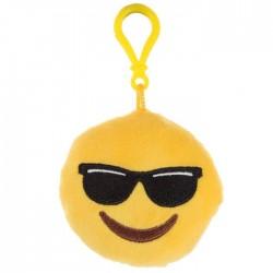 Porte-clés Moelleux Smiley Emoti Lunette avec Son