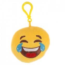 Porte-clés Moelleux Smiley Emoti Mort de Rire avec Son
