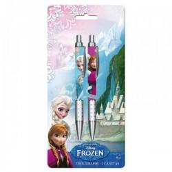 """Set 2 Crayons métal """"La Reine des Neiges"""""""