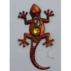 Magnet Lézard en Métal Orange 02