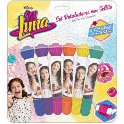 """Set de 6 Feutres + Tampons """"Soy Luna"""""""